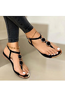 Women's casual flat bottom toe beach sandals