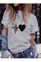 Casual Printed Short-Sleeved T-Shirt