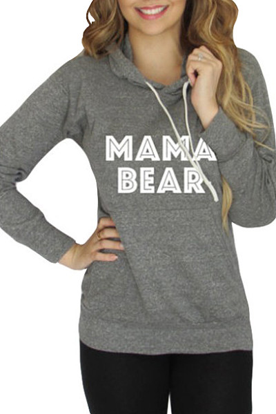 Hooded Kangaroo Pocket Letters Hoody