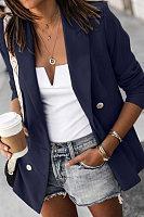 Women Fashion Plain Blazers