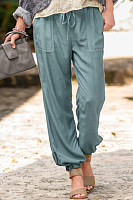 Fashion ladies solid color casual pants