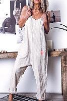 Loose Comfortable Sleeveless Casual Romper Jumpsuit