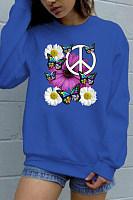 Printed Round Neck Casual Sweatshirt