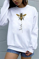 Bee Printed Round Neck Sweatshirt