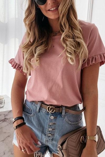 Womens fashion casual T-shirt