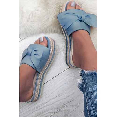 Plain  Peep Toe  Date Travel Wedge Sandals