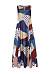Sleeveless Printed Loose High Waist Dress