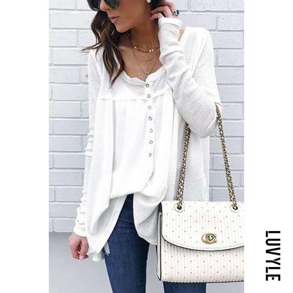 White Fashion Stylish Long Sleeves Casual T-Shirt White Fashion Stylish Long Sleeves Casual T-Shirt