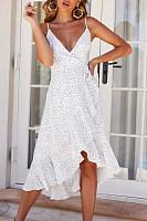 Spaghetti Strap  Print  Sleeveless Maxi Dresses