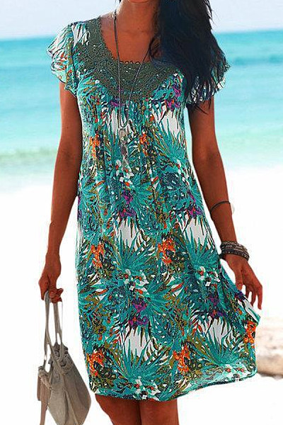 2020 Summer Printed Casual Dress