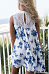 Decorative Lace  Floral Printed  Sleeveless Casual Dresses