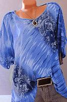 Summer  Cotton  Women  Scoop Neck  Printed  Short Sleeve Short Sleeve T-Shirts