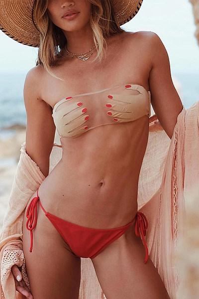Tube Top Mesh Sexy Perspective Bikini