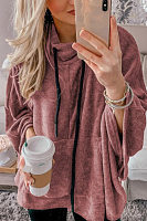 Casual  Plain  Long Sleeve Sweatshirts