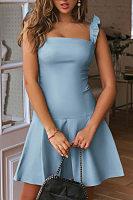 Spaghetti Strap Plain Casual Dresses