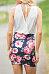 V Neck  Patchwork  Floral Printed Bodycon Dresses