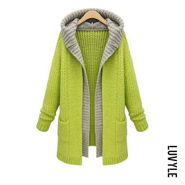 Hooded Pockets Colouring Outerwear - from $32.00