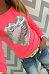 Round Neck  Glitter Heart T-Shirts