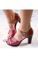 Color Block  Peep Toe  Date Travel Sandals
