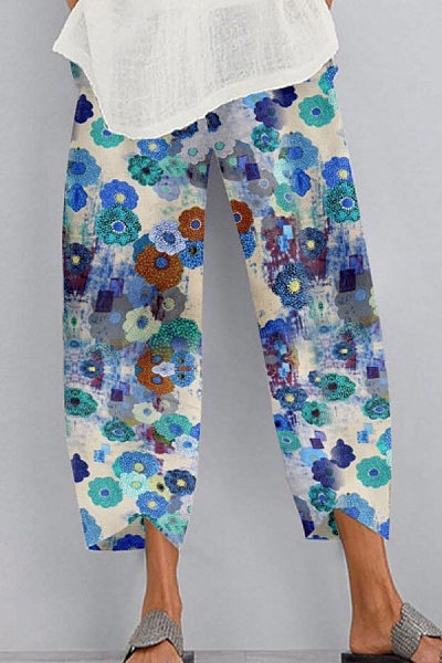 Floral Loose Casual Pants