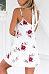 Spaghetti Strap  Belt  Floral Printed  Sleeveless Casual Dresses