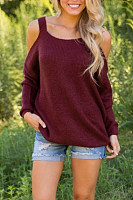 Spaghetti Strap  Loose Fitting  Plain Sweaters