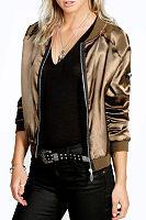 Snap Front Zipper  Plain Jackets