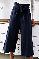 Women Loose-Fitting Plain Casual Pants