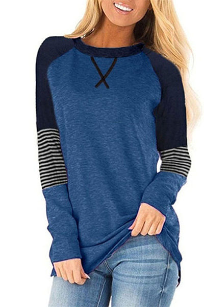Women's Long Sleeve Round Neck Casual T-Shirt