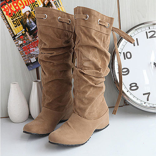 Invisible Round Toe Boots