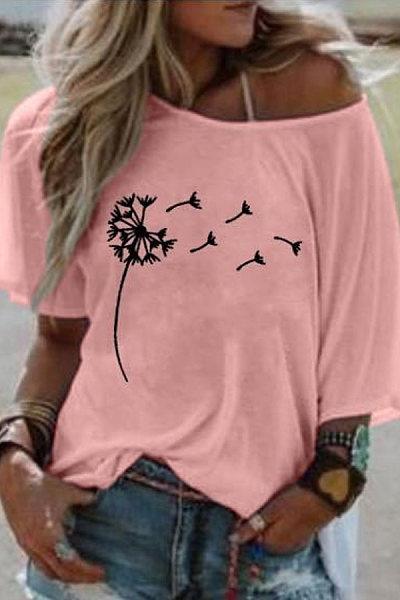 Casual Printed Short-sleeved T-shirts