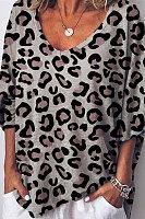 Sexy Leopard Print Loose T Shirt