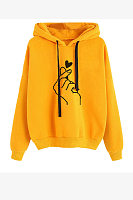 Hooded Long Sleeve Printed Casual Hoodies