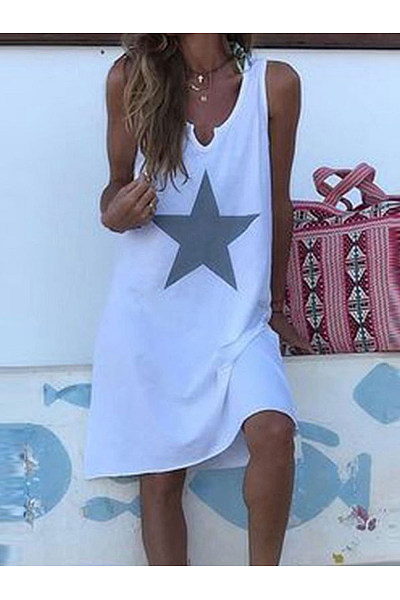 Sexy Casual Print Sleeveless Dress