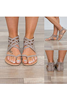 Bohemian  Flat  Peep Toe  Date Sandals