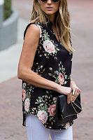 V Neck  Floral Printed Camis