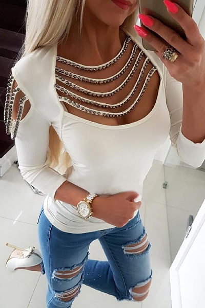 Sexy Off-The-Shoulder Tight Shirt