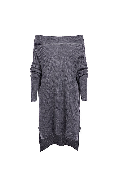 Sexy Off Shoulder Plain Loose Elegant Knitting Casual Dress