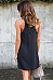 Halter  Cutout  Back Hole  Plain  Sleeveless Casual Dresses