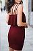 Strapless  Backless Flounce  Plain  Sleeveless Bodycon Dresses