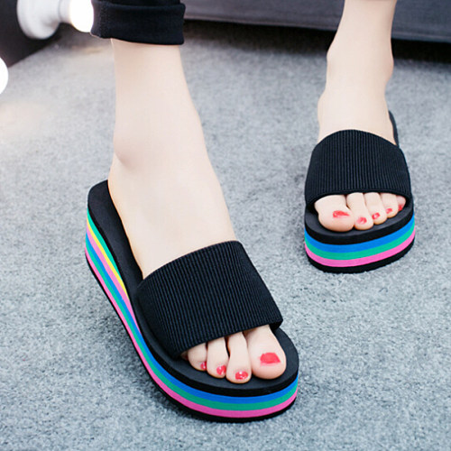 Mid Heeled Plain Casual Sandals
