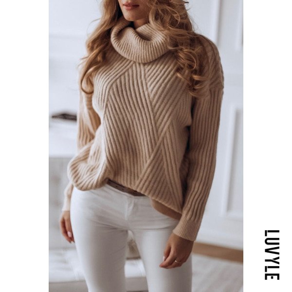 Women's classic solid color turtleneck sweater - from $30.00
