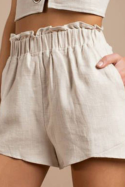 Fitted Basic Plain Pants