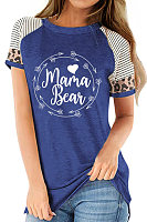 Round Neck Letters Print Short Sleeve T-shirt