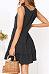 V Neck  Single Breasted  Plain  Sleeveless Casual Dresses