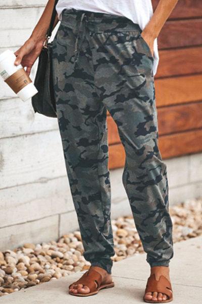 Women Camouflage Casual Long Pants