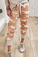 Camouflage Casual Cropped Pants