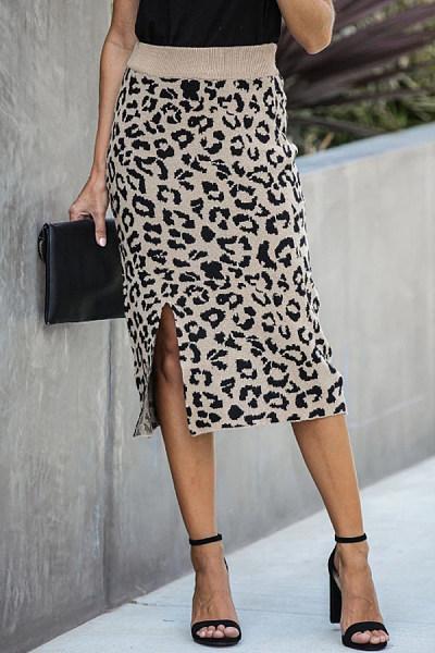 Women Casual Leopard Skirts