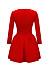 Stylish Round Neck 2 Colors Plain Skater-Dress