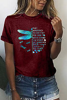 Dragonfly Letters Loose T-shirt